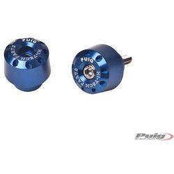 Końcówki kierownicy do Yamaha FZ8 / FZ1 / R6 / R1 (krótkie, niebieskie) - produkt z kategorii- Pozostałe c