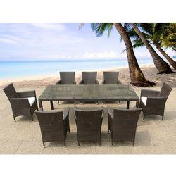 Rattan meble ogrodowe 8 krzeseł, 220 cm ITALY
