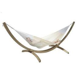 Zestaw hamakowy: siatkowy hamak mexicana ze stojakiem canoa, ecru mxh24cns201 marki La siesta