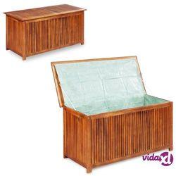 Vidaxl skrzynia ogrodowa, 117 x 50 x 58 cm, lite drewno akacjowe (8718475609445)