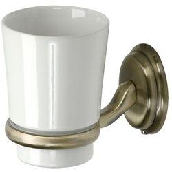 Ba-de Kubek łazienkowy pojedyńczy  amber ceramika złoty