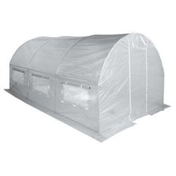 Tunel Foliowy Ogrodowy Ogrodniczy Szklarnia 2x3.5 m Biały UV6
