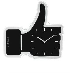 :: zegar ścienny thumbs up 41,5 x 40cm czarny marki Nextime