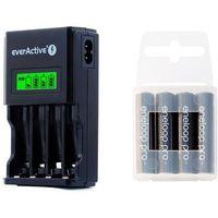 ładowarka everActive NC-450 Black + 4 x R03/AAA Panasonic Eneloop Pro 950 (box) (ładowarka do akumulatorków