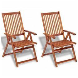 Drewniane krzesła ogrodowe Pasadena 2 szt