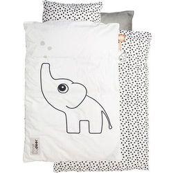 Pościel niemowlęca dots 100 x 70 cm - biała dbd20608 marki Done by deer