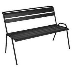 Nowoczesna ławka ogrodowa z oparciem  monceau czarna marki Fermob