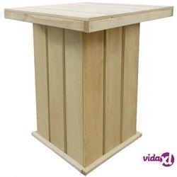 vidaXL Ogrodowy stolik barowy, impregnowane drewno FSC, 75x75x110 cm