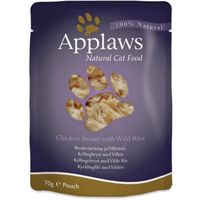 Applaws Natural Cat Food Pierś z kurczaka z dzikim ryżem 70g