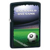Zapalniczka ZIPPO One World One Game, Black Matte (Z28301) - produkt z kategorii- Zapalniczki