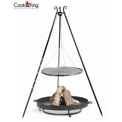 Cook&king Zestaw 3w1, grill stal czarna 50cm + palenisko malta 60 cm