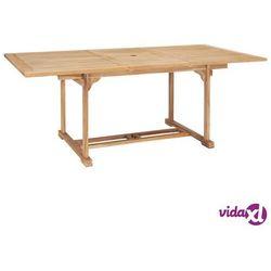 Vidaxl rozkładany stół ogrodowy, 150-200x100x75 cm, lite drewno tekowe (8718475708049)