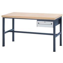 Unbekannt Stół warsztatowy z płytą mdf, 1 szuflada o wys. 150 mm, wys. x szer. x gł. 840x1