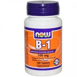 Now Foods Witamina B-1, 100 mg, 100 tabletek (artykuł z kategorii Witaminy i minerały)
