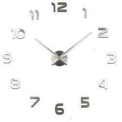 Duży zegar nowoczesny ścienny zrób to sam srebrny marki Mondex