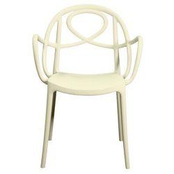 Krzesło ogrodowe Green Etoile P białe, GEP-biale