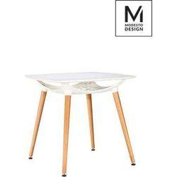 Modesto design Modesto stół hide square biały - blat mdf, podstawa drewniana