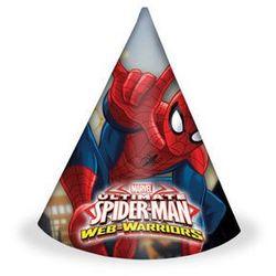 Czapeczki urodzinowe Ultimate Spiderman Web Warriors - 6 szt. (5201184851661)