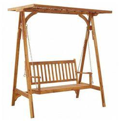 Drewniana huśtawka ogrodowa z daszkiem Malma