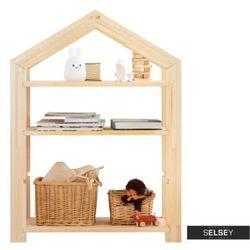 regał jafari dziecięcy domek z drewna wysokość 95 cm marki Selsey