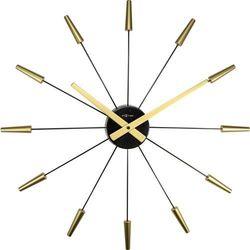 Zegar ścienny Plug inn gold by Nextime, kolor Zegar