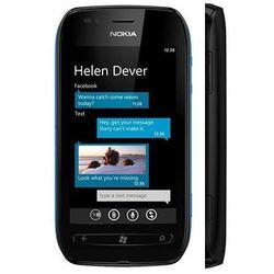 lumia 710 8gb czarna - czarny \ 2 lata na terenie całego kraju + polskie menu + bez sim locka, marki Nokia