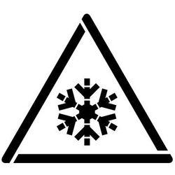 Szabloneria Szablon do malowania znak ostrzeżenie przed niską temperaturą, zamrożeniem gw010 - 17x20 cm