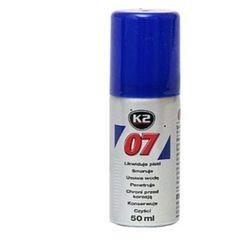 K2 07 50ml likwiduje piski, smaruje, czyści, penetruje, chroni przed korozją. ()