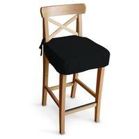 Dekoria Siedzisko na krzesło barowe Ingolf, czarny, krzesło barowe Ingolf, Living