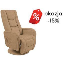 Fotel Pulsar 2 beżowy z funkcją masażu -15% OUTLET kolor beżowy