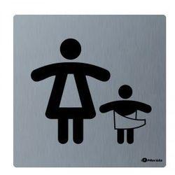 Piktogram - pomieszczenie dla matki z dzieckiemwym. 100 x 100 x 2 mm, STAL MATOWA