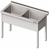 Stalgast Stół z basenem dwukomorowym 1600x600x850 mm | , 981396160