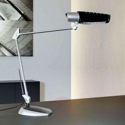 Lampka energooszczędna na biurko MAULaurora, 20W, srebrno-czarna (4002390058391)