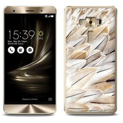 Foto Case - Asus Zenfone 3 Deluxe (ZS570KL) - etui na telefon Foto Case - białe pióra