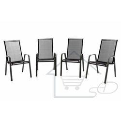 Krzesło ogrodowe 4 szt - leżak do ogrodu czarny marki 1