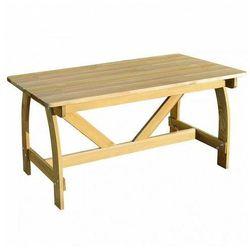 Stół ogrodowy province - drewno sosnowe marki Elior