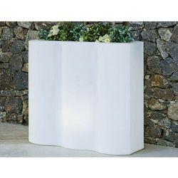 NEW GARDEN donica PALMERA C biała - LED