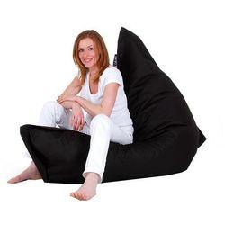 Beliani Xxl poducha pufa worek do siedzenia 140x180cm czarny