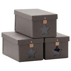 Pudełka na buty 3 szt grey marki Kids concept
