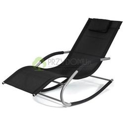 Fotel bujany leżak BERGAMO czarny