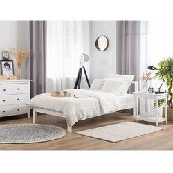 Łóżko drewniane 90 x 200 cm białe VANNES, kolor biały