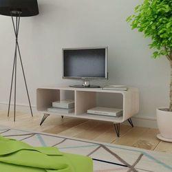 Vidaxl Szafka pod rtv 90x39x38,5 cm z drewna, szara