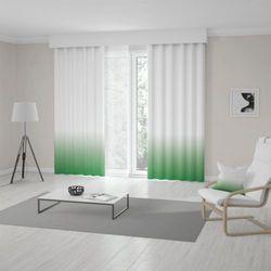Zasłona okienna na wymiar - DARK GREEN - KOLOR 100 CM