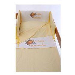 Bambino mondo Pościel haftowana 100% bawełna 90x120cm 3el - nasze słoneczko