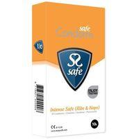 Prezerwatywy stymulujące - Safe Intense Safe Condoms Rib-Nop 10szt