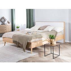 Łóżko drewniane 160 x 200 cm led jasnobrązowe serris marki Beliani