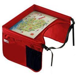 bezpieczny stolik podróżnika z mapą polski, czerwony marki Tuloko