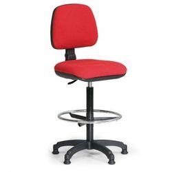 Podwyższone krzesło biurowe milano z podnóżkiem - czerwone marki B2b partner