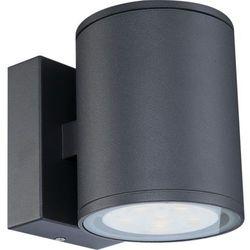 Globo Zewnętrzna lampa ścienna carpo 34265-2  aluminiowa oprawa elewacyjna led ip54 outdoor okrągła ciemnoszary