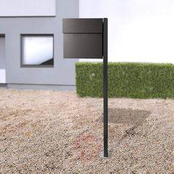 Absolut/ radius Stojąca skrzynka na listy letterman iv, czarna